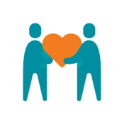 two people holding a heart, connected health platform